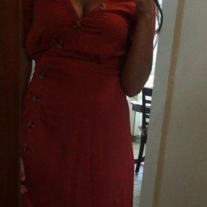 Francesca's Collections Dresses - Francesca's burnt orange maxi dress